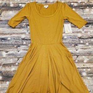 NWT Lularoe Nicole Dress Women's Size XXS Solid